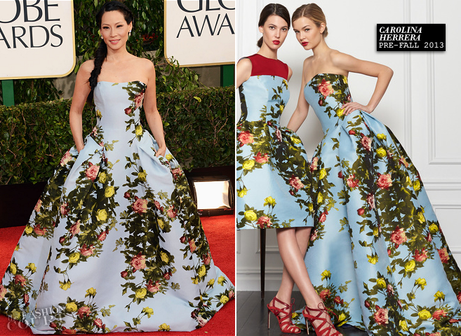 lucy-liu-in-carolina-herrera-golden-globes-2013
